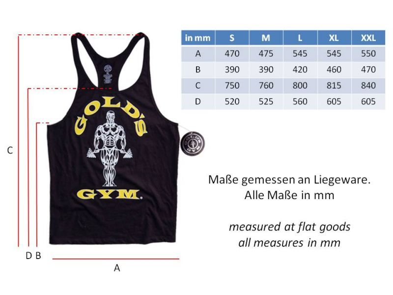 golds gym classic stringer tank top pumping iron ebay. Black Bedroom Furniture Sets. Home Design Ideas